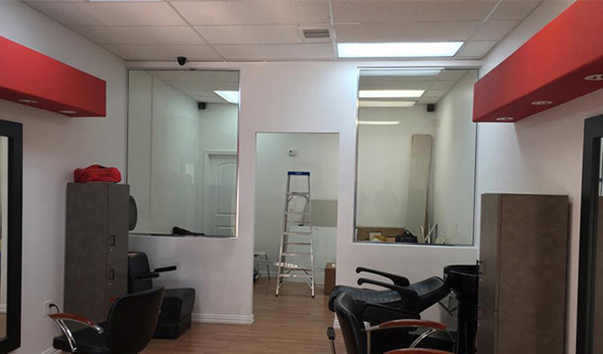 Commercial wall mirror